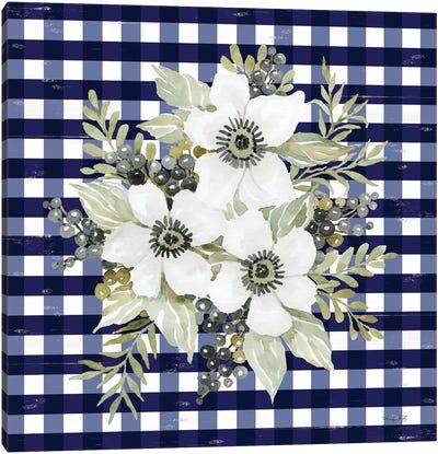 Navy Floral I     Canvas Art Print
