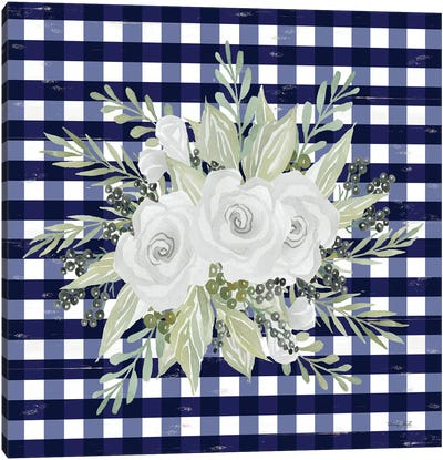Navy Floral II    Canvas Art Print