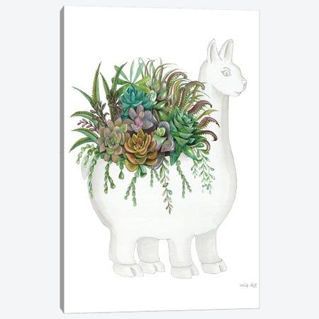 Proud Llama Pot I Canvas Print #CJA242} by Cindy Jacobs Art Print