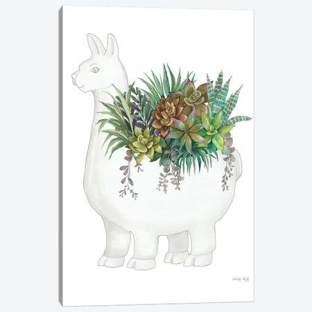 Proud Llama Pot II Canvas Print #CJA243} by Cindy Jacobs Art Print
