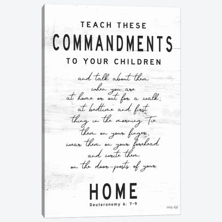 Teach These Commandments Canvas Print #CJA247} by Cindy Jacobs Canvas Artwork