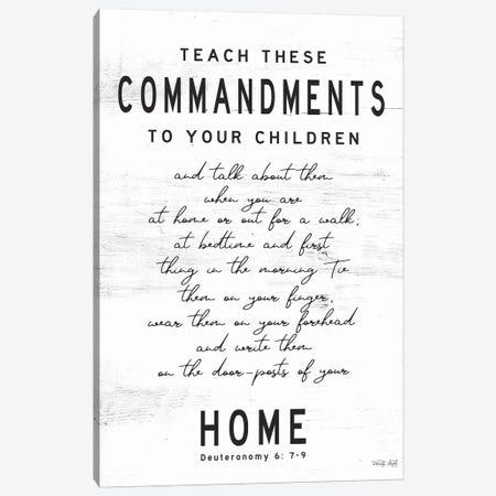 Teach These Commandments Canvas Print #CJA247} by Cindy Jacobs Canvas Artwork