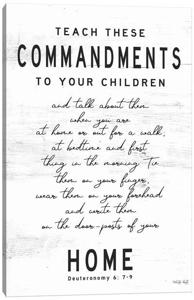 Teach These Commandments Canvas Art Print