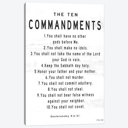 The Ten Commandments Canvas Print #CJA248} by Cindy Jacobs Canvas Print