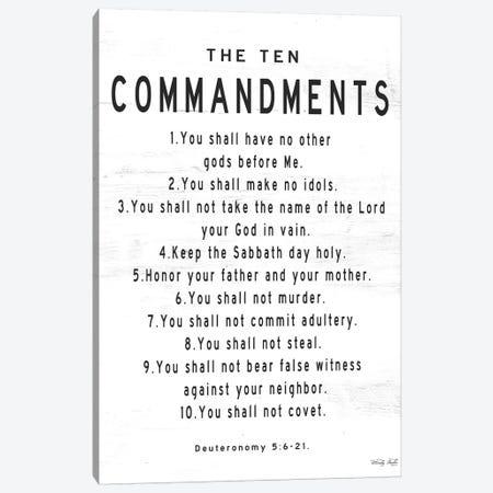 The Ten Commandments Canvas Print #CJA248} by Cindy Jacobs Canvas Print