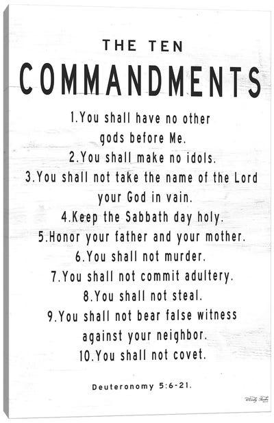 The Ten Commandments Canvas Art Print