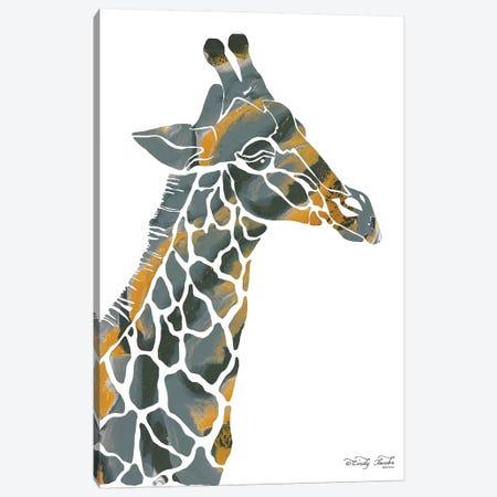Bright Giraffe I Canvas Print #CJA24} by Cindy Jacobs Canvas Print
