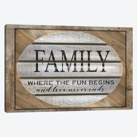 Family - Where the Fun Begins Canvas Print #CJA250} by Cindy Jacobs Canvas Artwork