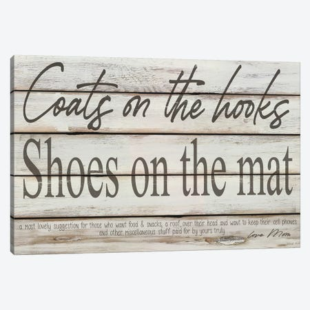 Mud Room Rules Canvas Print #CJA256} by Cindy Jacobs Art Print