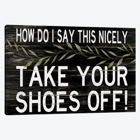 Take Your Shoes Off Canvas Print #CJA258} by Cindy Jacobs Canvas Wall Art