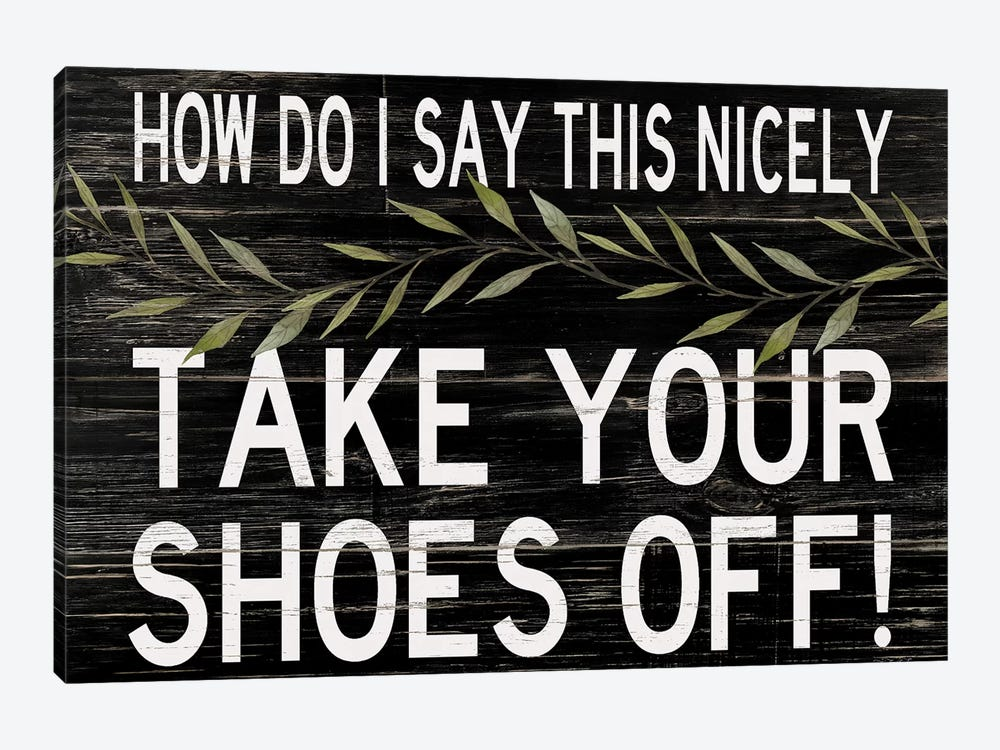 Take Your Shoes Off by Cindy Jacobs 1-piece Canvas Artwork