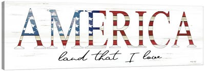 America Land That I Love Canvas Art Print