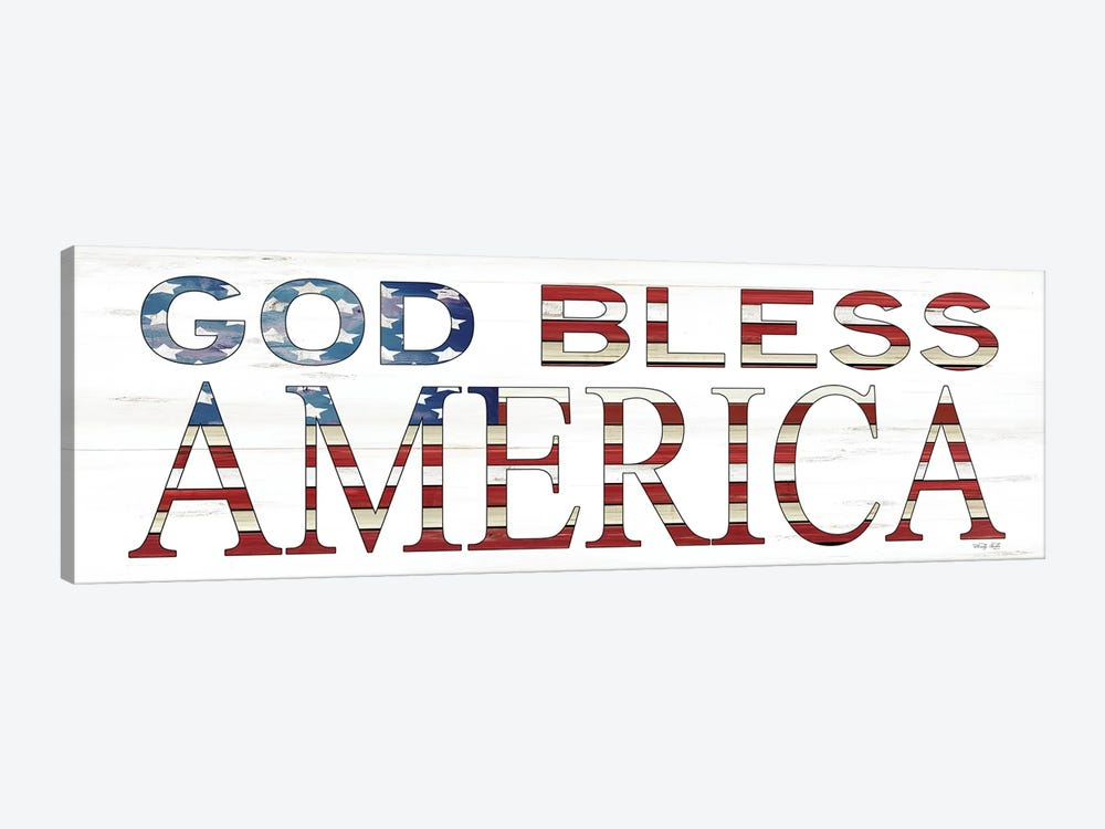 God Bless America    by Cindy Jacobs 1-piece Canvas Art