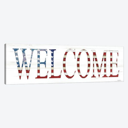Patriotic Welcome    Canvas Print #CJA265} by Cindy Jacobs Canvas Artwork