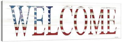 Patriotic Welcome    Canvas Art Print