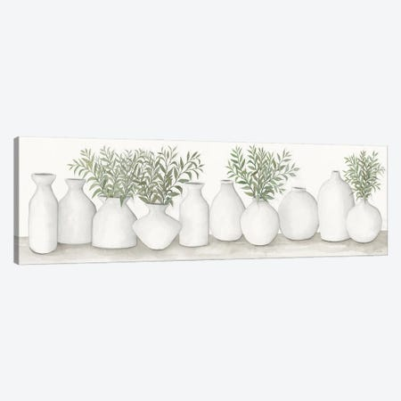 White Vases Still Life Canvas Print #CJA268} by Cindy Jacobs Canvas Print