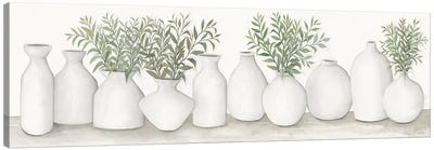 White Vases Still Life Canvas Art Print