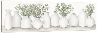 White Vases Still Life Canvas Art Print