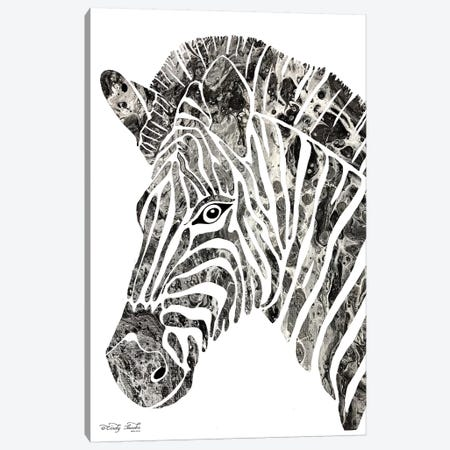 Bright Zebra Canvas Print #CJA26} by Cindy Jacobs Art Print