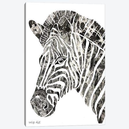 Bright Zebra Canvas Print #CJA26} by Cindy Jacobs Art Print
