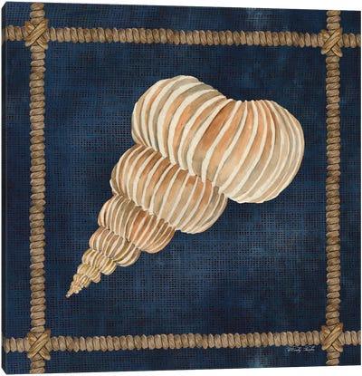 Seashell on Navy III Canvas Art Print