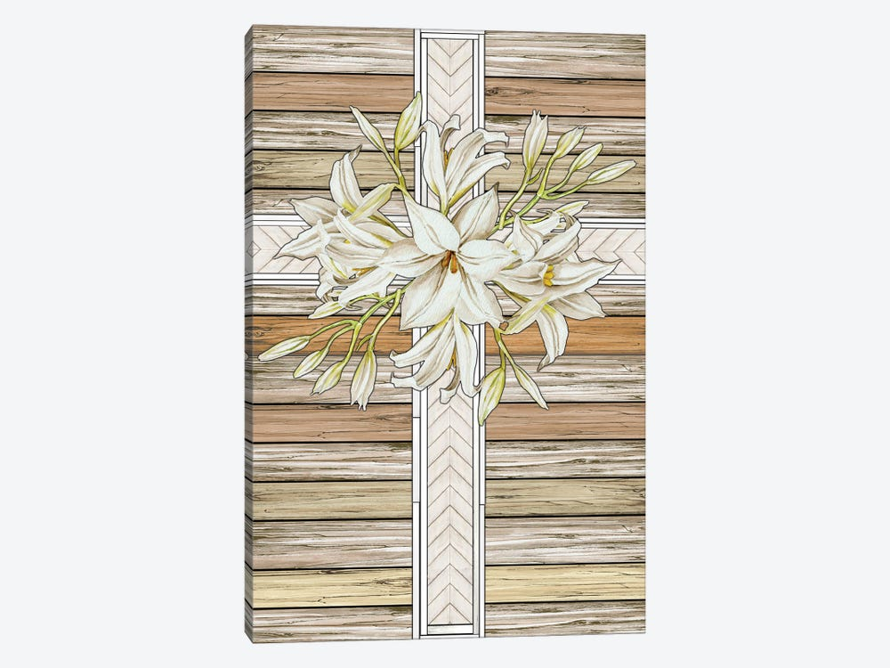 Floral Cross by Cindy Jacobs 1-piece Canvas Art