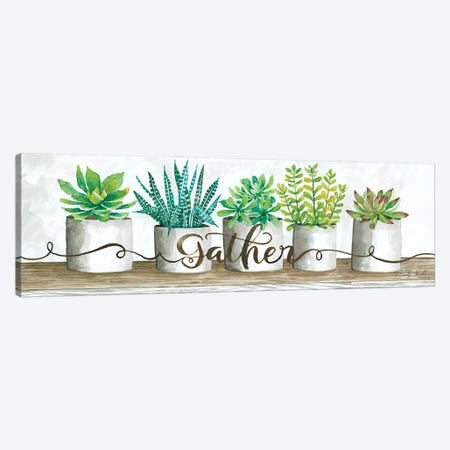 Gather Succulent Pots Canvas Print #CJA285} by Cindy Jacobs Canvas Art