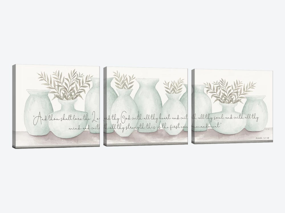 Love the Lord Your God by Cindy Jacobs 3-piece Canvas Wall Art