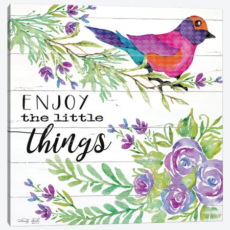 Enjoy Little Things Canvas Print #CJA28} by Cindy Jacobs Canvas Artwork