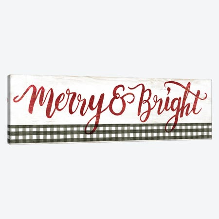 Merry & Bright Gingham   Canvas Print #CJA290} by Cindy Jacobs Canvas Wall Art