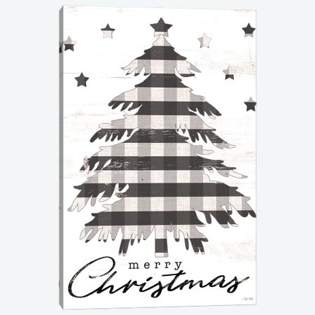 Merry Christmas Tree and Stars Canvas Print #CJA293} by Cindy Jacobs Canvas Wall Art