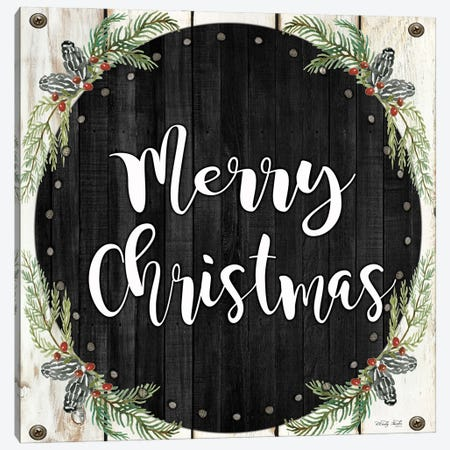Merry Christmas Wreath     Canvas Print #CJA294} by Cindy Jacobs Canvas Art Print