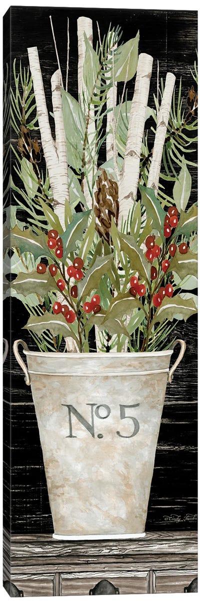 No. 5 Christmas Canvas Art Print
