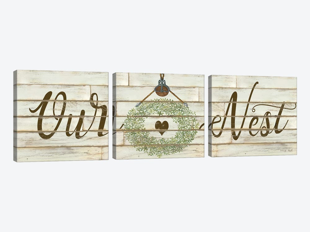Our Nest by Cindy Jacobs 3-piece Canvas Wall Art
