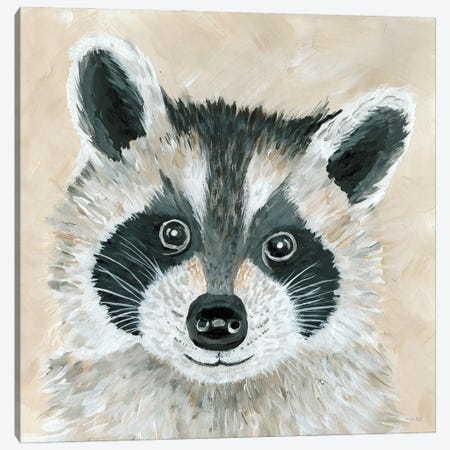 Roxie the Raccoon Canvas Print #CJA299} by Cindy Jacobs Canvas Art
