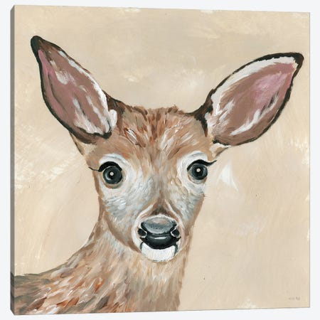 Snowy the Deer Canvas Print #CJA300} by Cindy Jacobs Canvas Art