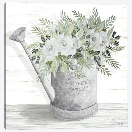 Gather Watering Can Canvas Print #CJA307} by Cindy Jacobs Canvas Art Print