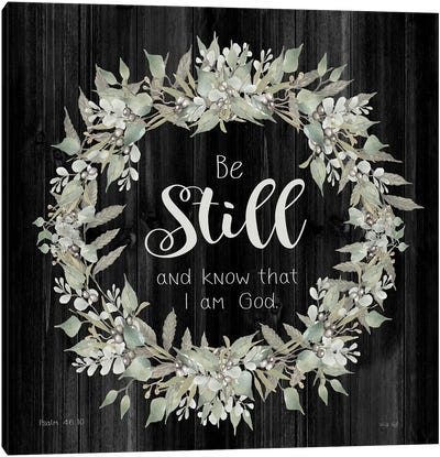 Be Still and Know Wreath Canvas Art Print