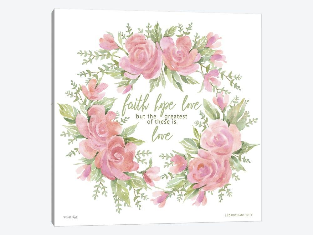 Faith Hope Love by Cindy Jacobs 1-piece Canvas Art
