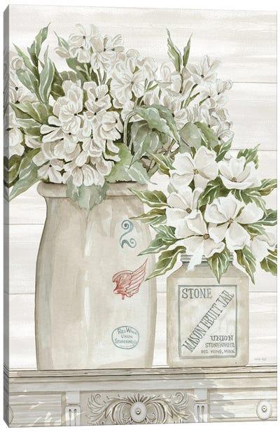 Floral Country Crocks Canvas Art Print