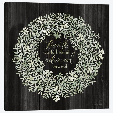 Leave the World Behind Wreath Canvas Print #CJA326} by Cindy Jacobs Canvas Print