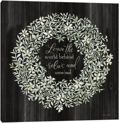 Leave the World Behind Wreath Canvas Art Print