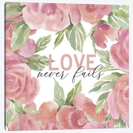 Love Never Fails Canvas Print #CJA328} by Cindy Jacobs Canvas Wall Art