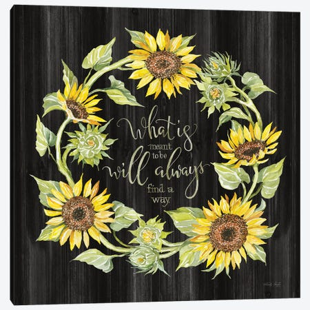 What's Meant to Be Wreath Canvas Print #CJA331} by Cindy Jacobs Art Print