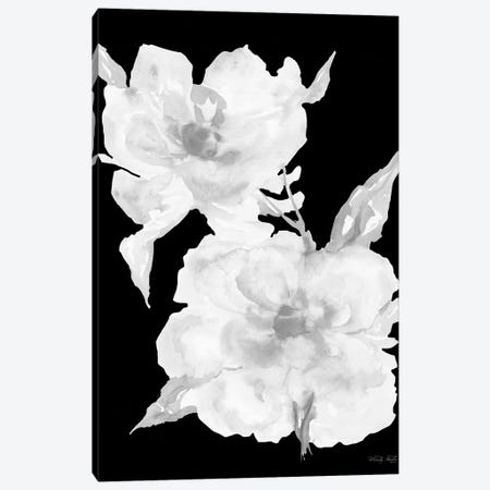 Black & White Flowers II Canvas Print #CJA333} by Cindy Jacobs Art Print