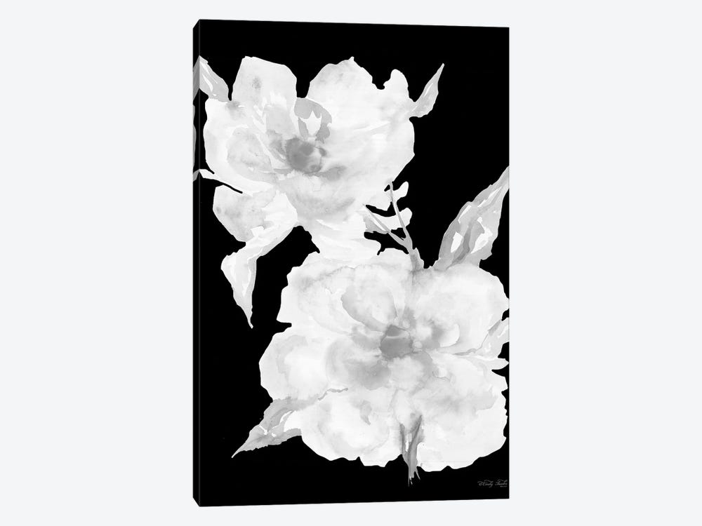 Black & White Flowers II by Cindy Jacobs 1-piece Canvas Art