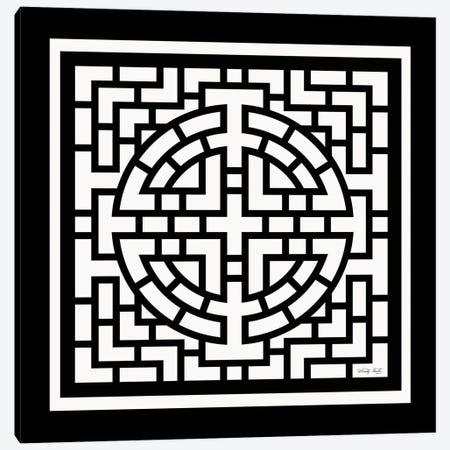 Black & White Geo I Canvas Print #CJA334} by Cindy Jacobs Canvas Artwork