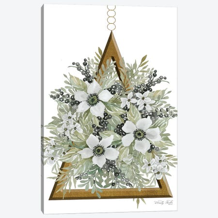 Geometric Triangle Muted Floral I Canvas Print #CJA33} by Cindy Jacobs Canvas Art Print