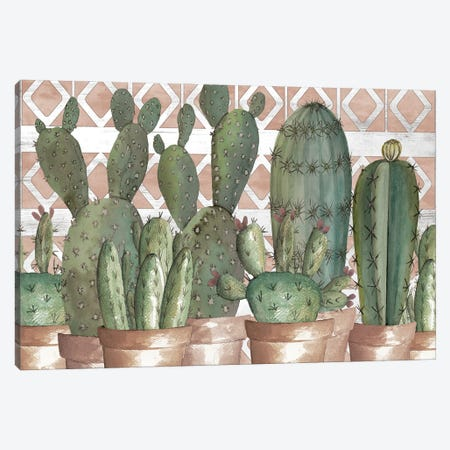Geo Succulents Canvas Print #CJA342} by Cindy Jacobs Canvas Wall Art