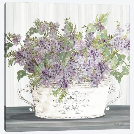 Lilac Galvanized Pot Canvas Print #CJA347} by Cindy Jacobs Canvas Print